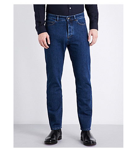 GIEVES & HAWKES Regular-fit tapered jeans (Indigo