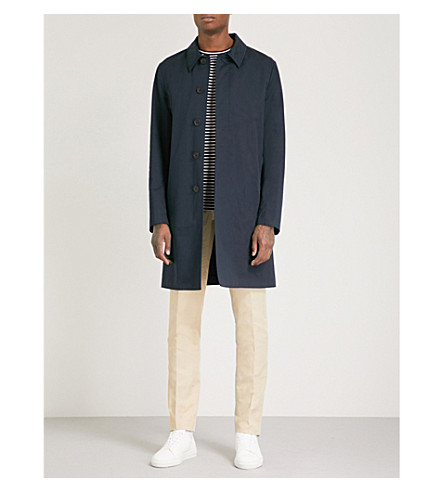 GIEVES & HAWKES Monroe cotton-blend raincoat (Navy