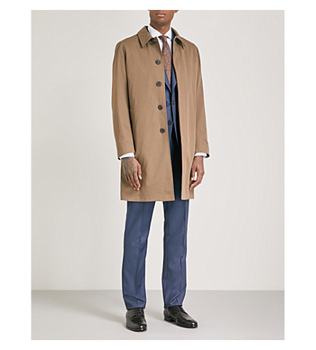 GIEVES & HAWKES Monroe cotton-blend raincoat (Sand