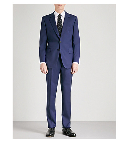 GIEVES & HAWKES Regular-fit wool suit (Navy