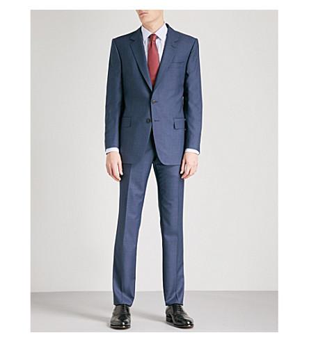 GIEVES & HAWKES Birdseye-weave regular-fit wool suit (Navy