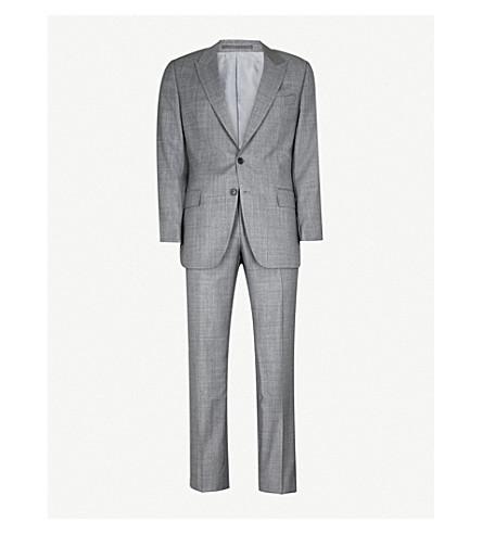 GIEVES & HAWKES Micro-textured regular-fit wool suit (Grey