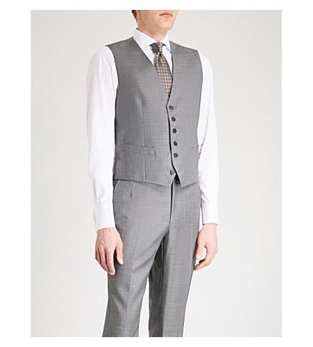 GIEVES & HAWKES Micro-textured wool waistcoat (Grey