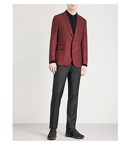 GIEVES & HAWKES Regular-fit wool jacket (Dark+red