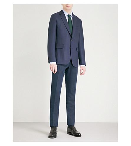 GIEVES & HAWKES Regular-fit wool and mohair-blend jacket (Dark+navy