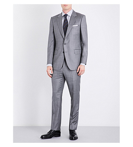 GIEVES & HAWKES Regular-fit wool suit (Grey