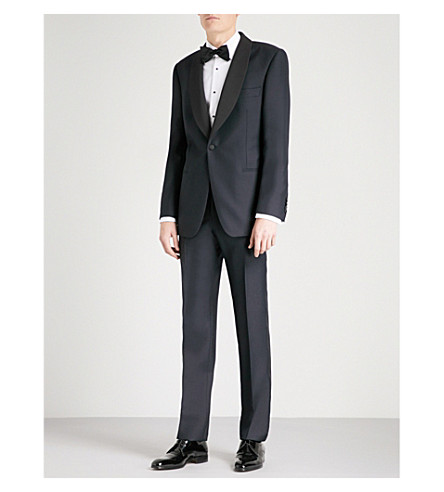 GIEVES & HAWKES Regular-fit wool and mohair-blend tuxedo (Navy