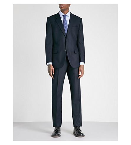 GIEVES & HAWKES Regular-fit wool-blend three-piece suit (Dark+navy