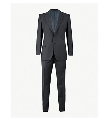 GIEVES & HAWKES Regular-fit wool suit (Black