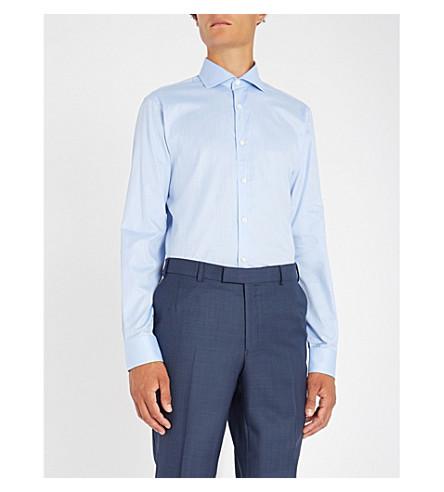 GIEVES & HAWKES 精裁版型棉衬衫 (蓝色