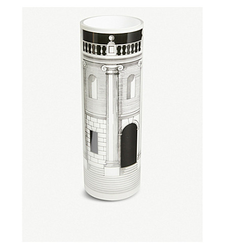 FORNASETTI Silkscreen printed glass vase