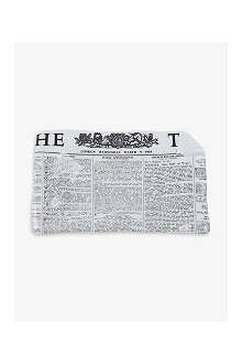FORNASETTI The Times rectangular ashtray