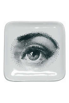 FORNASETTI Square 'Eye' ashtray