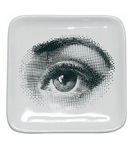 FORNASETTI Square 'Eye' ashtray