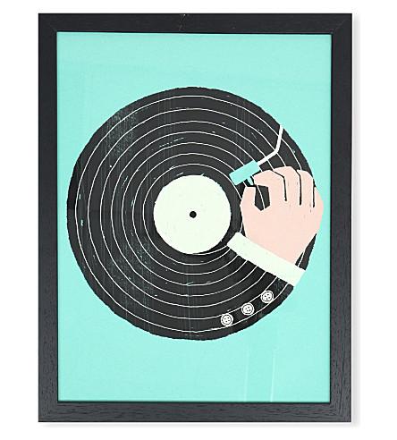 EAST END PRINTS Vinyl framed print