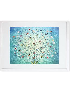 EAST END PRINTS The Singing Tree framed print