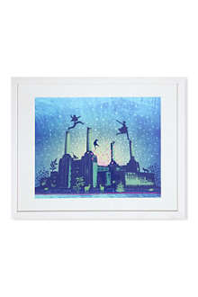 EAST END PRINTS London by Night framed print