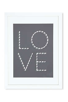 EAST END PRINTS Monochrome Love framed print