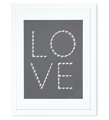EAST END PRINTS Monochrome Love framed print
