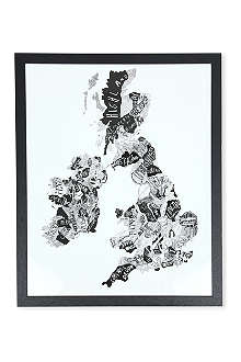 EAST END PRINTS British Isles framed print
