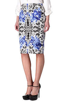 ELIE TAHARI Printed pencil skirt