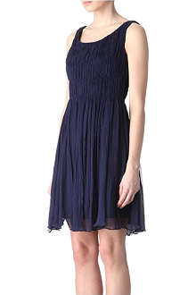 ELIE TAHARI Chiffon pleat dress