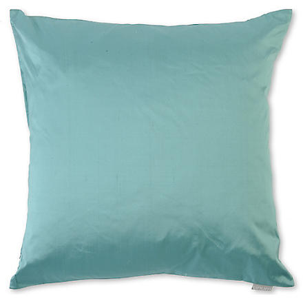 LINUM Silk cushion (Turq