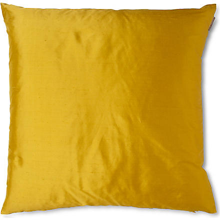 LINUM Silk cushion (Yellow