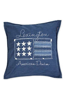 LEXINGTON Denim Flag cushion