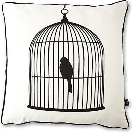 FERM LIVING Birdcage silk cushion with padding