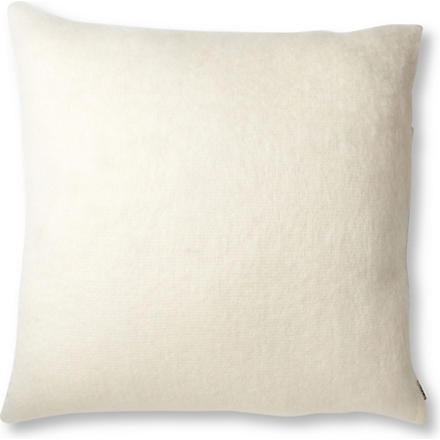 BRONTE Mohair cushion white