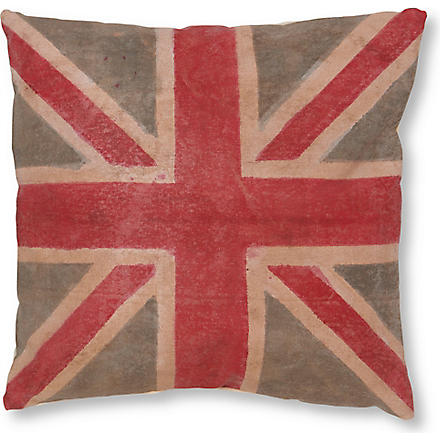 FS HOME COLLECTIONS Vintage Union Jack cushion with pad