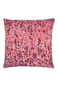 NITIN GOYAL Pixelated triangles cushion