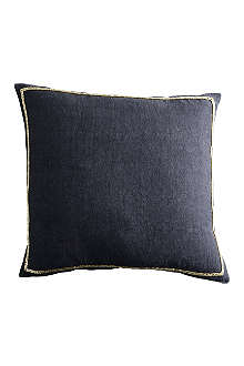 TINE K HOME Beaded cotton-blend cushion