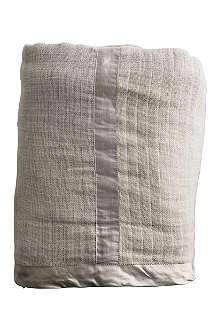 TINE K HOME Cotton bedspread with silk border 190cm