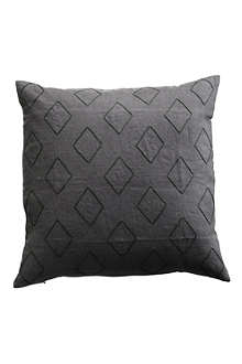 TINE K HOME Harlequin embroidered cushion