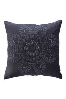 TINE K HOME Floral embroidered linen cushion