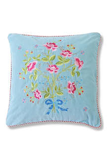 PIP STUDIO Roses For You blue cushion