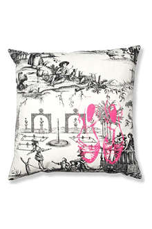 LA CERISE SUR LE GATEAU Fluorescent shoes cushion cover