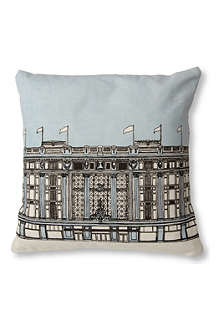 MR WINGATE Selfridges Oxford Street cushion cover with pad