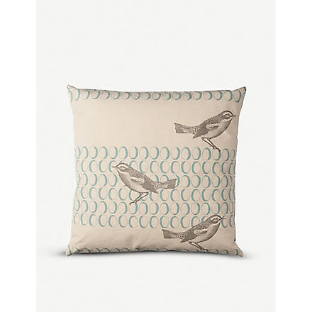 THORNBACK & PEEL Birds and egg canvas cushion