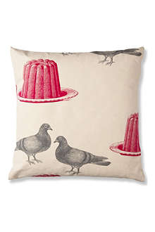 THORNBACK & PEEL Pigeon and jelly canvas cushion