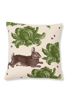 THORNBACK & PEEL Rabbit and Cabbage cushion