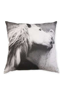 BY NORD Playing Horses cushion