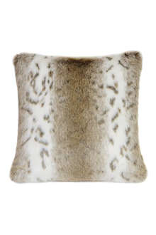 HELEN MOORE Lynx faux-fur cushion