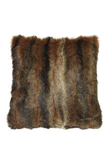 HELEN MOORE Sable faux-fur cushion