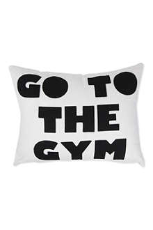 ALEXANDRA FERGUSON Go To The Gym cushion