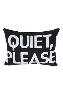 ALEXANDRA FERGUSON Quiet Please cushion