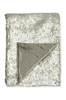 VOYAGE Aquilla silver sequin throw