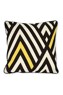 A MINDS EYE Chevron cushion